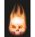 Human skull head with flame vector image