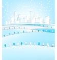 03 City winter landscape vector image