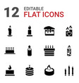 12 candle icons vector image vector image