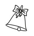 a bell of christmas or school icons vector image vector image