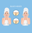 a woman wears a towel vector image