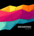 Abstract geometric triangle low poly set vector image