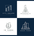 abstract property logo design set vector image vector image