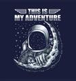 adventure astronaut vector image vector image