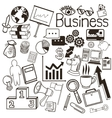 Background and icon set Business graphic vector image
