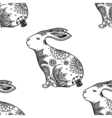 background with rabbits vector image vector image