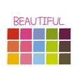 Beautiful Color Tone without Code vector image vector image