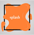 big orange splash with lots of small splashes vector image vector image