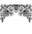 Black and white lace flowers and leaves isolated o vector image vector image