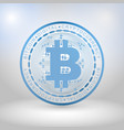 blue bitcoin digital currency vector image