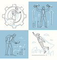 business concepts - set of line design style vector image vector image