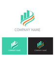 business finance progress loop logo vector image vector image