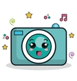 camera photographic character icon vector image