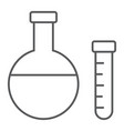 chemistry thin line icon school and education vector image vector image