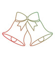 christmas bells with red bow decoration vector image