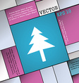 Christmas tree icon sign Modern flat style for vector image