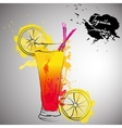 cocktail with color splash vector image