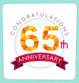 colorful polygonal anniversary logo 3 065 vector image vector image