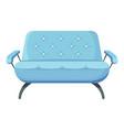 contemporary sofa comfy couch for interior design vector image