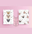 covers for phone with cats and geometric shapes vector image