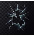 Cracks on broken window with cracks vector image vector image