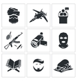 Crime and religion Icons Set vector image vector image
