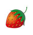 cute and funny comic style garden strawberry vector image