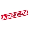 Cyber Threat rubber stamp vector image vector image