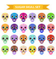 day dead holiday in mexico icons set vector image vector image