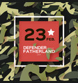 Defender of the fatherland day 23 february