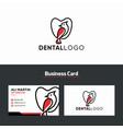dental clinic creative logo design vector image vector image
