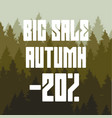drawing with a discount a big autumn sale in the vector image vector image
