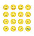 emoticon smile icons set 5 vector image vector image