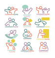 family parents and child care logo templates vector image vector image