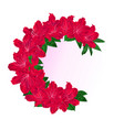 festive frame bouquet red rhododendrons vintage vector image vector image