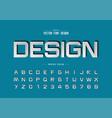 font paper cut and alphabet script design vector image vector image