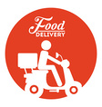 food delivery vector image vector image