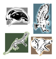 four animals vector image vector image