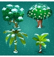 Four tropical plants in the ice vector image