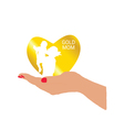 gold mom in hand vector image vector image