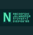 green neon light alphabet font vector image vector image