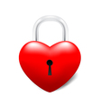 Grossy Locked Heart vector image vector image