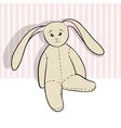 Hand drawing rag bunny sitting isolated vector image vector image