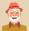 happy farmer avatar portrait on beige vector image