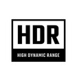 high dynamic range symbol vector image vector image