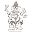 hindu lord ganesha vector image