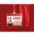 id card woman red vector image vector image