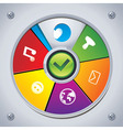 interface - choose social media icon vector image