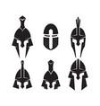 iron helmet medieval knight icon vector image
