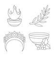 isolated object mythology and god icon set of vector image